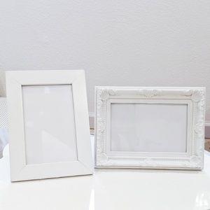 Other - 2 white Photo Frames